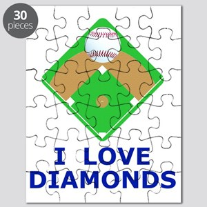 Baseball I Love Diamonds T-Shirts  Gifts Puzzle