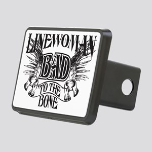 bad to the bone 3 Rectangular Hitch Cover