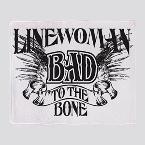 bad to the bone 3 Throw Blanket