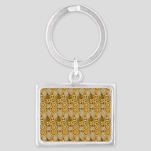 mustardgoldtb Landscape Keychain