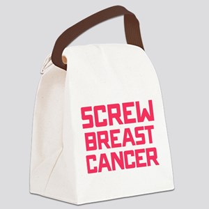 Screw Breast Cancer Canvas Lunch Bag