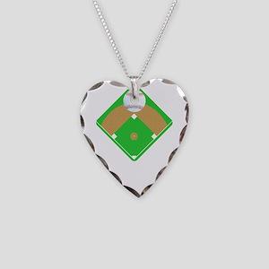 Baseball I love Diamonds T-Sh Necklace Heart Charm