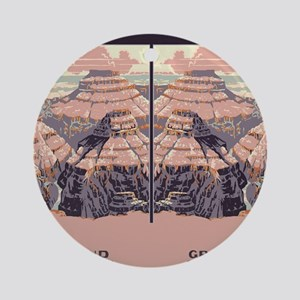 flip_flops_travel_grand_canyon Round Ornament