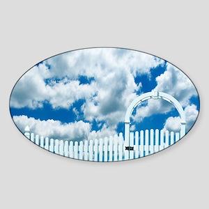heavens gate denoised Sticker (Oval)