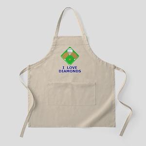 Baseball I Love Diamonds Buttons  Magnets Apron