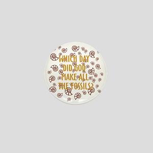 Fossils-dark shirt Mini Button