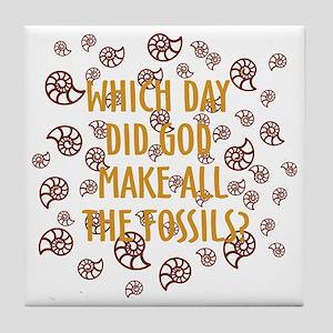 Fossils-dark shirt Tile Coaster