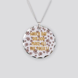 Fossils-dark shirt Necklace Circle Charm
