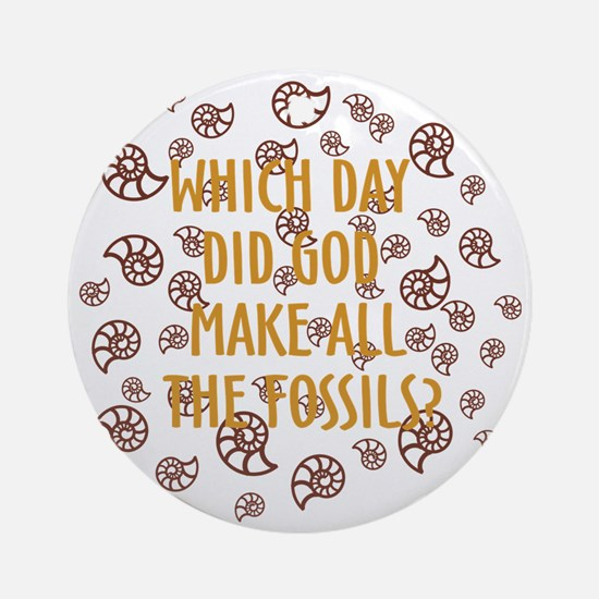 Fossils-dark shirt Round Ornament