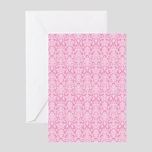 flip_flops_2_damask_04 Greeting Card