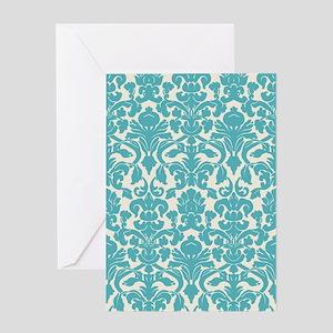 damask Greeting Card