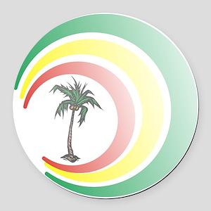 palmera. Round Car Magnet