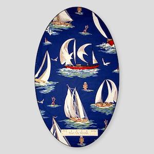 sailboat Sticker (Oval)