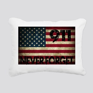 911 Grunge Flag Rectangular Canvas Pillow
