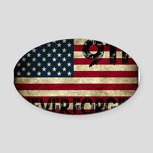911 Grunge Flag Oval Car Magnet