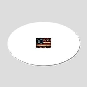 911 Grunge Flag 20x12 Oval Wall Decal
