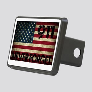 911 Grunge Flag Rectangular Hitch Cover