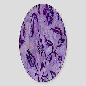 purple flowers Sticker (Oval)