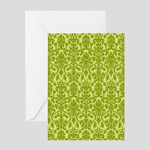 flip_flops_2_damask_02 Greeting Card