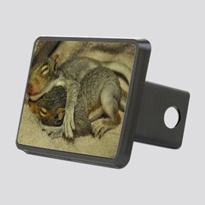 Baby squirrels cuddle L Rectangular Hitch Cover