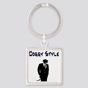 Doggy Style Square Keychain