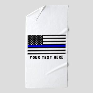 Thin Blue Line Beach Towel