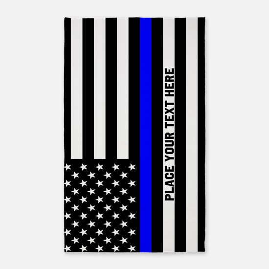 Thin Blue Line Area Rug