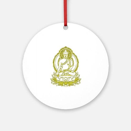 BuddhaOutline2XXX Round Ornament