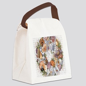 seashell Canvas Lunch Bag