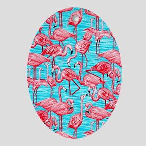 Flamingos Oval Ornament