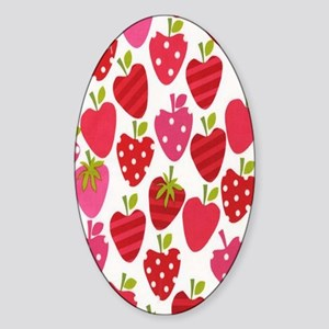 strawberries Sticker (Oval)