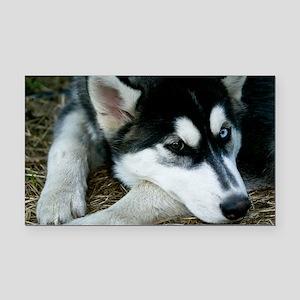 Siberian Husky Dog Rectangle Car Magnet