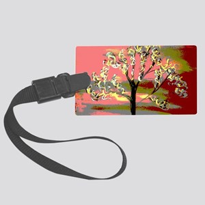 fire storm digital Large Luggage Tag