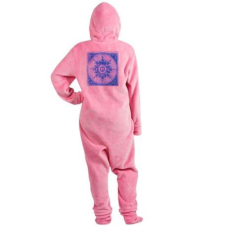 wind rose blue Footed Pajamas