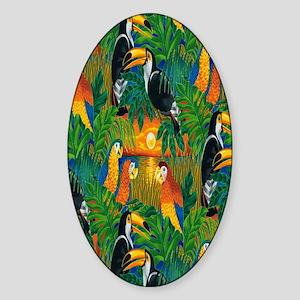 Wildlife Paradise Sticker (Oval)