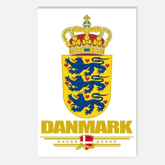 Denmark COA(Flag 10) Postcards (Package of 8)