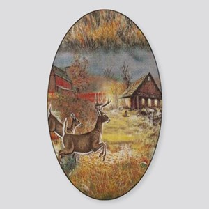 Wildlife and Outdoors Sticker (Oval)
