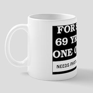 For Sale 69 year old Birthday Mug
