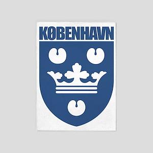 Kobenhavn COA (blue) 5'x7'Area Rug