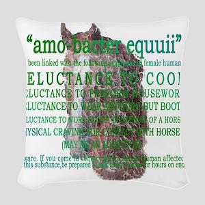 amo-bacter equuii Woven Throw Pillow