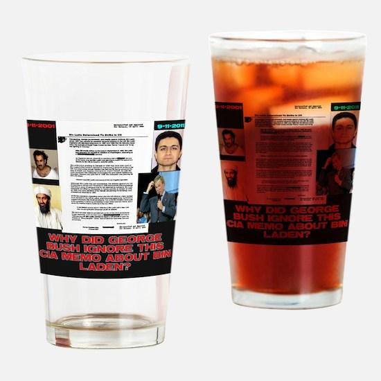 CIA-Memo-To-Bush-August-2001-Black Drinking Glass