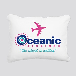 Oceanic Plain Rectangular Canvas Pillow