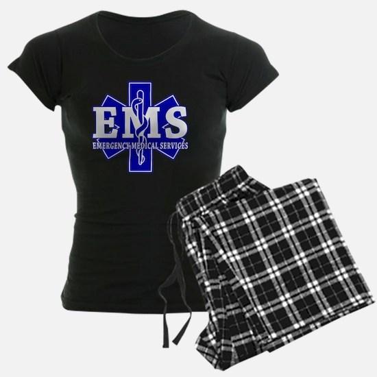 star of life - blue EMS word Pajamas