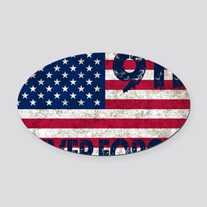 USA 911 Oval Car Magnet
