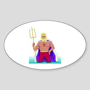 King Neptune Oval Sticker