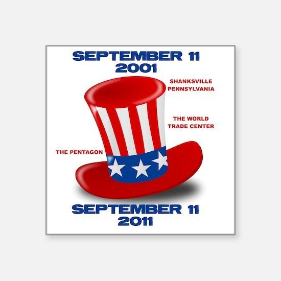 """SEPTEMBER-11-ANNIVERSARY-UN Square Sticker 3"""" x 3"""""""