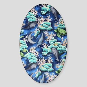 tropical_sea_life Sticker (Oval)