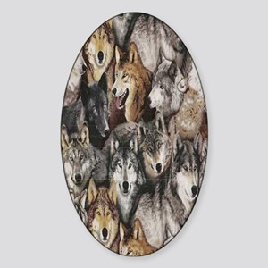 wolves Sticker (Oval)