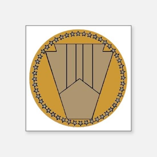 """9-11-01_seal_04_grumpyvisua Square Sticker 3"""" x 3"""""""