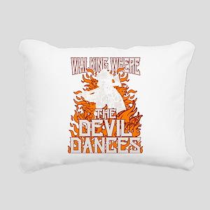 Walking Where The Devil Rectangular Canvas Pillow
